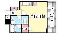 アルス神戸ハーバースクエア[7F号室]の間取り