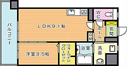グランドハイツ黒崎[4階]の間取り