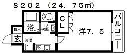 フィールドビレッジ[102号室号室]の間取り