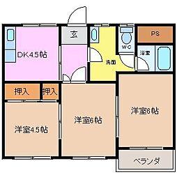 三重県四日市市相生町の賃貸マンションの間取り