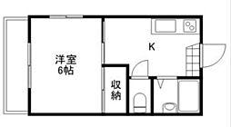 三入コーポ[1階]の間取り