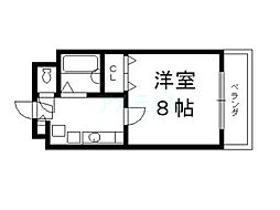 京都府京都市東山区妙法院前側町の賃貸マンションの間取り