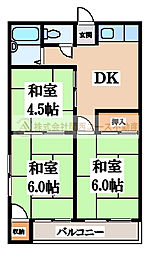 マンション小林[3階]の間取り
