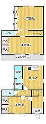 [テラスハウス] 静岡県浜松市東区上西町 の賃貸【静岡県 / 浜松市東区】の間取り