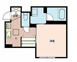 JR山陽本線 明石駅 徒歩8分の賃貸アパート 1階1Kの間取り