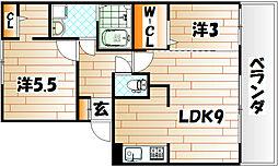 FK−ROCK[3階]の間取り