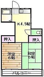 東京都板橋区相生町の賃貸アパートの間取り