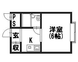 コーポ柏村[3階]の間取り