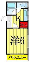 千葉県船橋市前原東3丁目の賃貸マンションの間取り
