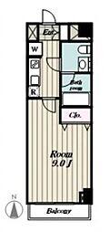 プレール・ドゥ−ク羽田WESTII bt[305kk号室]の間取り