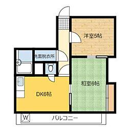 静岡県静岡市駿河区馬渕2丁目の賃貸マンションの間取り