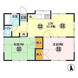 [一戸建] 千葉県君津市北子安3丁目 の賃貸【/】の間取り
