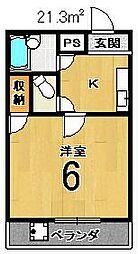 エスポワール西京極[207号室]の間取り