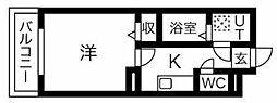 JR東北本線 東仙台駅 徒歩2分の賃貸マンション 1階1Kの間取り