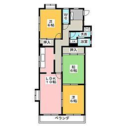 フォレスト赤池[1階]の間取り