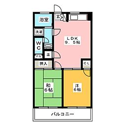 ニューいわきビル[8階]の間取り