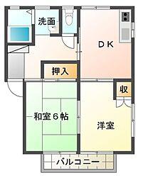 ハイツサンパティークA棟[2階]の間取り