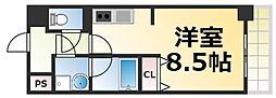 Osaka Metro千日前線 今里駅 徒歩4分の賃貸マンション 6階1Kの間取り