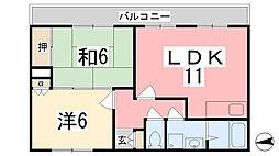 NOBLE HEIGHTS[205号室]の間取り