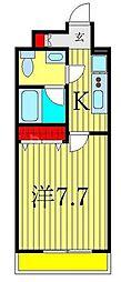 JR常磐線 南千住駅 徒歩6分の賃貸マンション 4階1Kの間取り