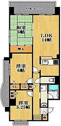 チサンマンション[4階]の間取り