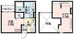 Celeste弥刀(チェレステミト)[201号室号室]の間取り