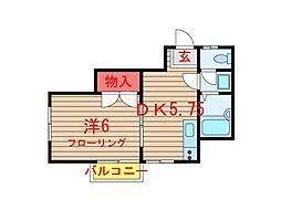 タウンハウス習志野台II[202号室]の間取り