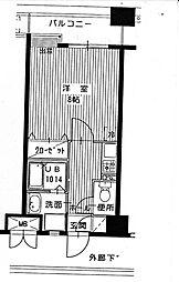 ザルヴェ大橋壱番館[8階]の間取り