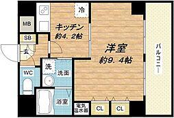 will Do堺筋本町[5階]の間取り