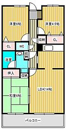 グレース・レジデンス東松戸[1階]の間取り