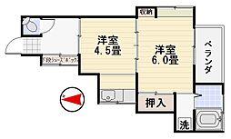 中島荘I[1F号室]の間取り