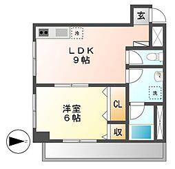 オーシャンハイツ栄[5階]の間取り