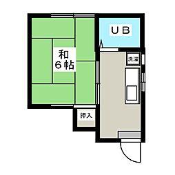 神戸コーポ[2階]の間取り