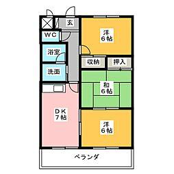 グレイス丹羽[2階]の間取り