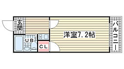 ラムール神戸[803号室]の間取り