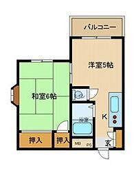 ハイツ武庫川[103号室]の間取り