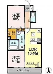 (仮称)D-roomすみよし台[102号室号室]の間取り