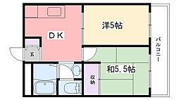 第二西田ビル[202号室]の間取り