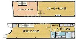 田村ビル[1F2F号室号室]の間取り