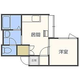 TMS円山[3階]の間取り