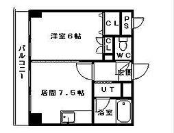 コスモス東札幌[5階]の間取り