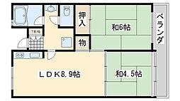 佐野湊団地1号棟[1215号室]の間取り