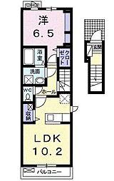 サニーライフ宮代[2階]の間取り