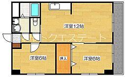メゾン隼人(真孝)[7階]の間取り