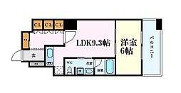Osaka Metro長堀鶴見緑地線 心斎橋駅 徒歩10分の賃貸マンション 4階1LDKの間取り