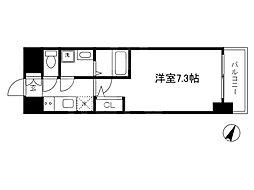 Osaka Metro谷町線 南森町駅 徒歩9分の賃貸マンション 2階1Kの間取り