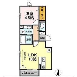 Apartment Ciel[2階]の間取り