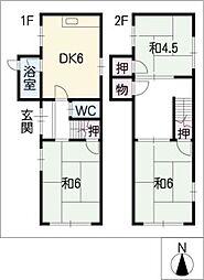 [一戸建] 愛知県清須市春日県 の賃貸【/】の間取り