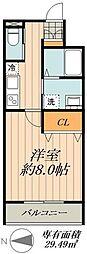 JR総武線 新小岩駅 徒歩10分の賃貸マンション 1階1Kの間取り