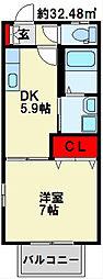 プランドールミニヨン A棟 [2階]の間取り